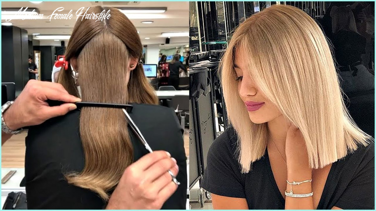 8 short and medium haircuts for women 😍haircut and color transformation medium female hairstyle