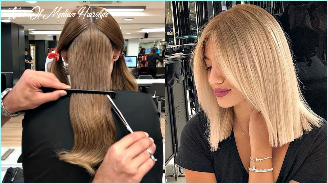 8 short and medium haircuts for women 😍haircut and color transformation types of medium hairstyle