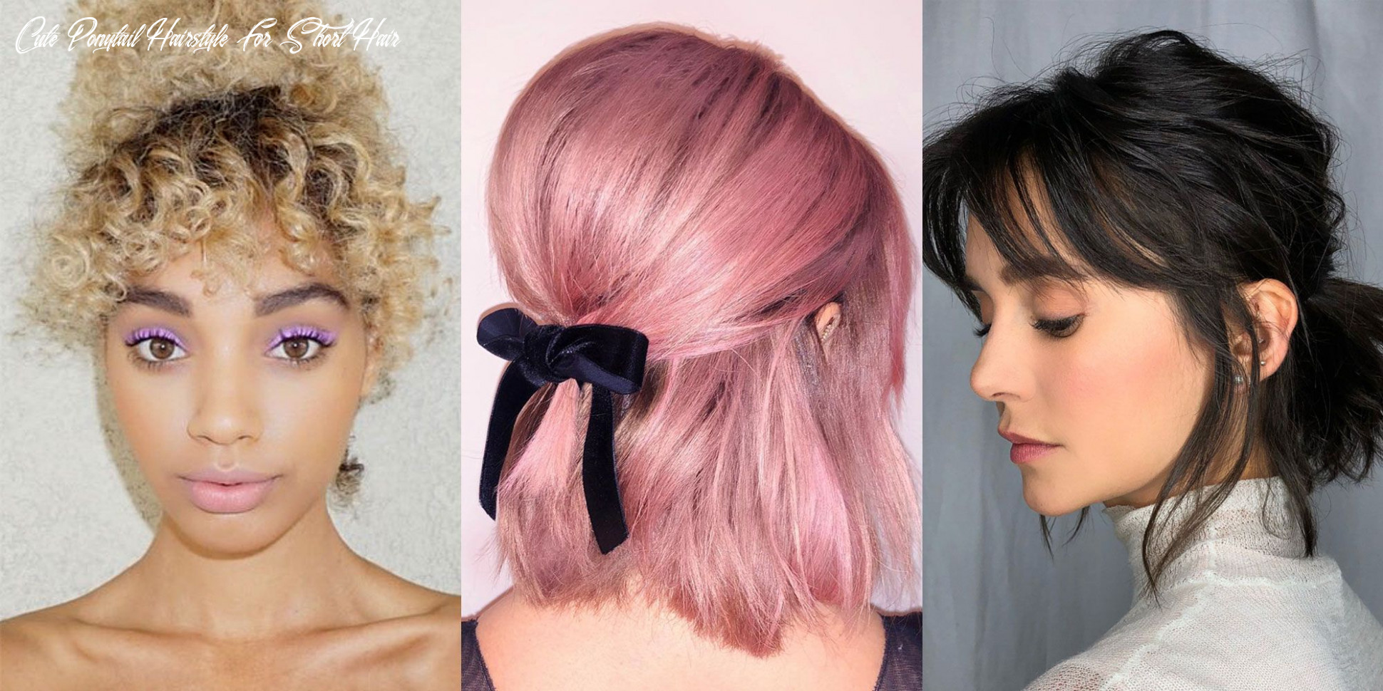 8 short hair ponytail hairstyles you need to try – cute updos for
