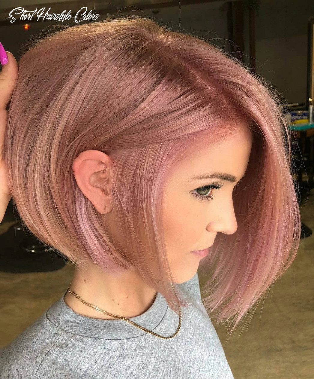 8 short hairstyles for fine hair   rose hair color, hair color