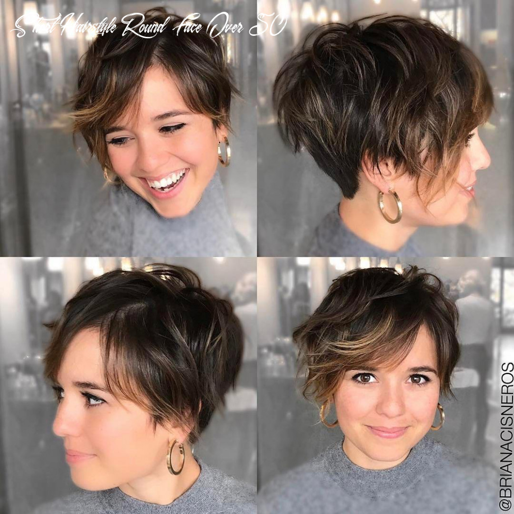 8 short hairstyles for round faces with slimming effect hadviser short hairstyle round face over 50