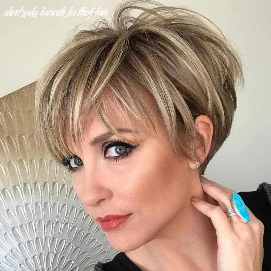 8 short spiky hairstyles for women   thick hair styles, short