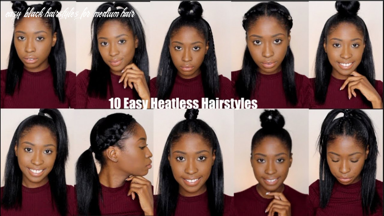 8 simple quick and easy heatless hairstyles for straight natural hair easy black hairstyles for medium hair