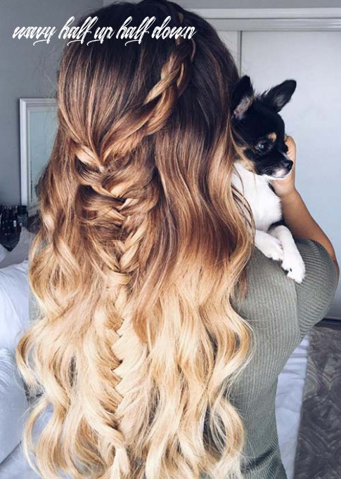 8 trendy long hairstyles for women to try   fashionisers© wavy half up half down