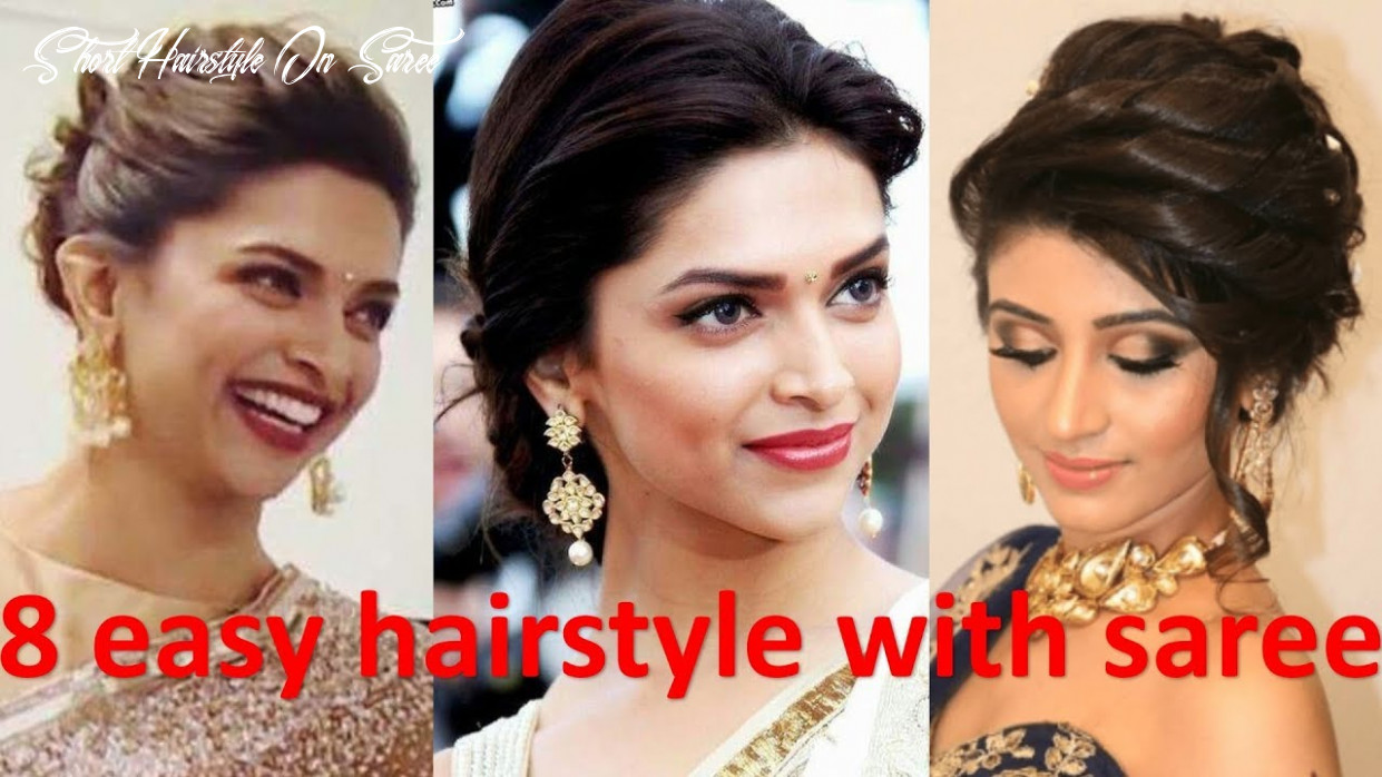 8 unique & different hairstyle with saree | french bun hairstyle | bridal hairstyle | new hairstyle short hairstyle on saree