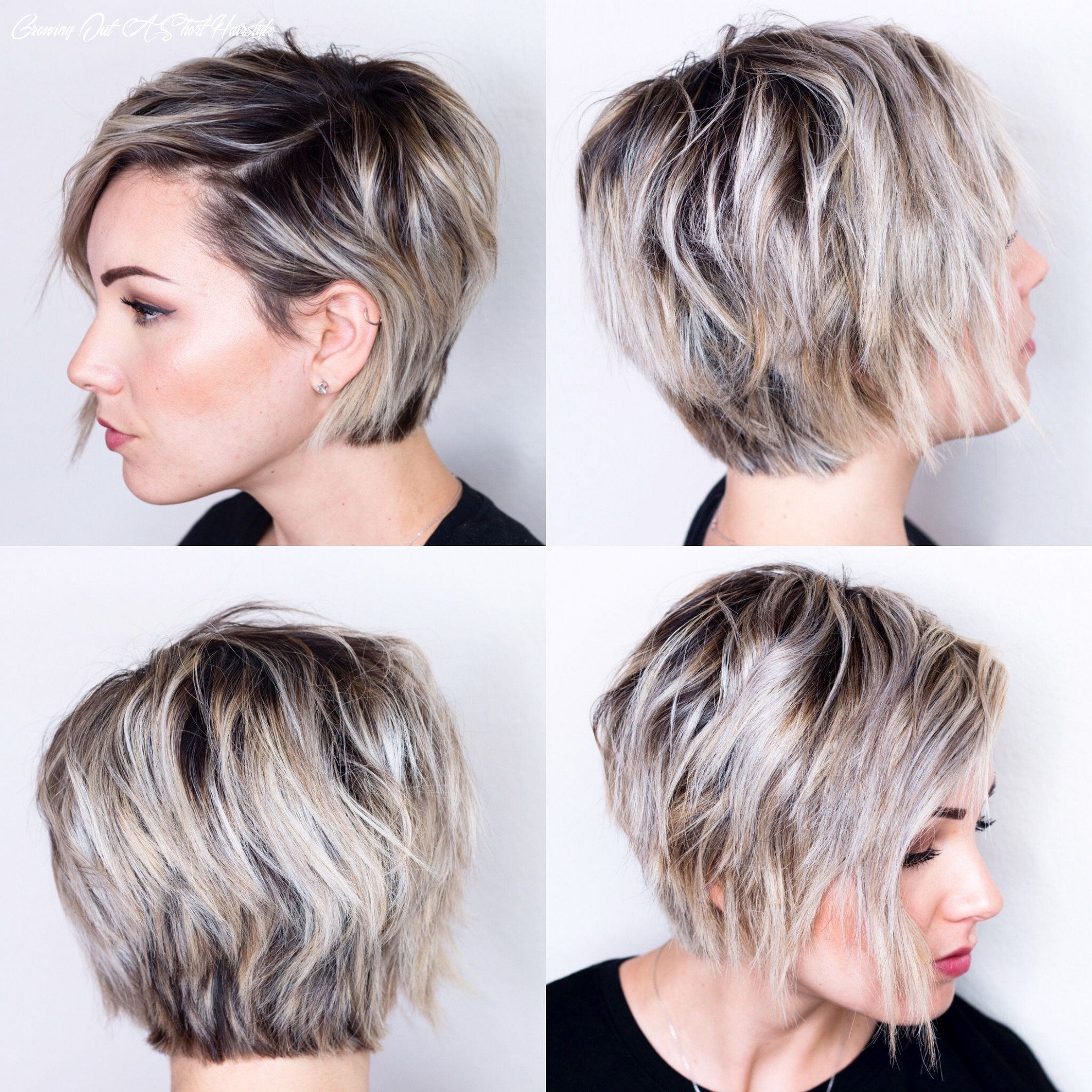 8 view of short hair | Oval face hairstyles, Growing out short ...