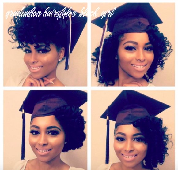 8 Ways to Slay Your Cap & Gown   Graduation hairstyles with cap ...