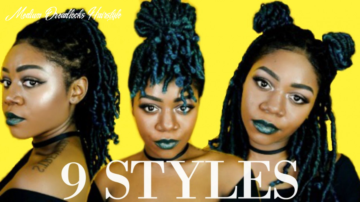 8 ways to style medium length locs / braids / twists protective styles | 8 minute hairstyles medium dreadlocks hairstyle