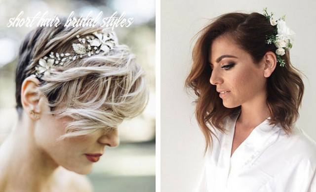 8 wedding hairstyles for short to mid length hair | stayglam short hair bridal styles