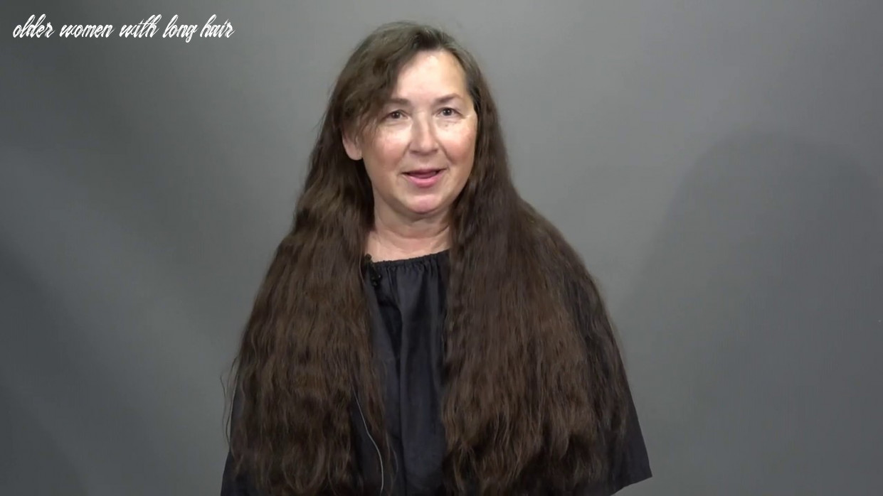 8 year old woman cuts off long hair for the first time since 8st grade and is stunned older women with long hair