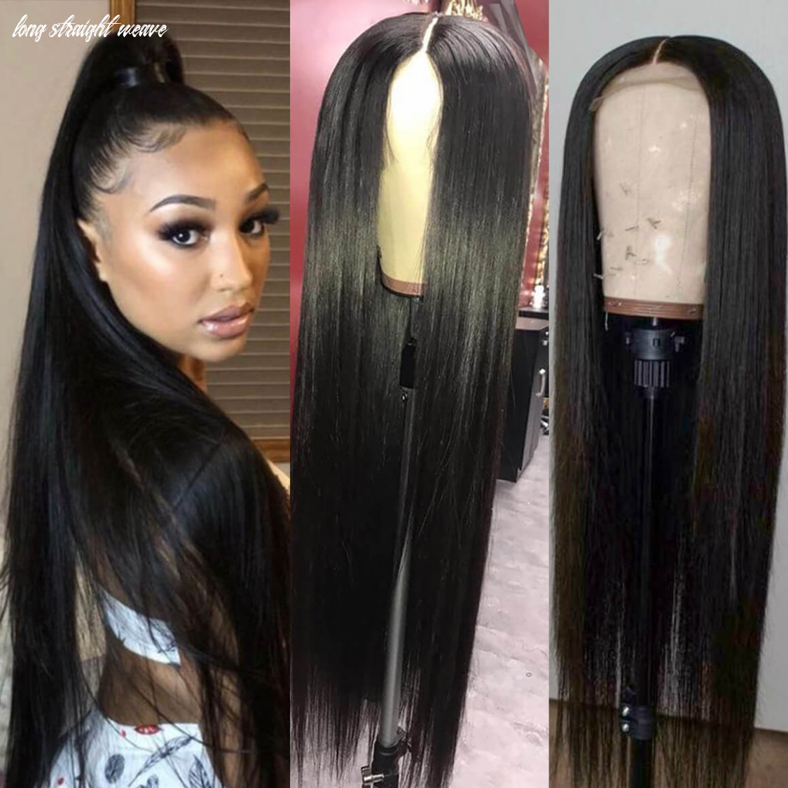 9 9inch long straight hair wigs for women human hair lace front wig long straight weave