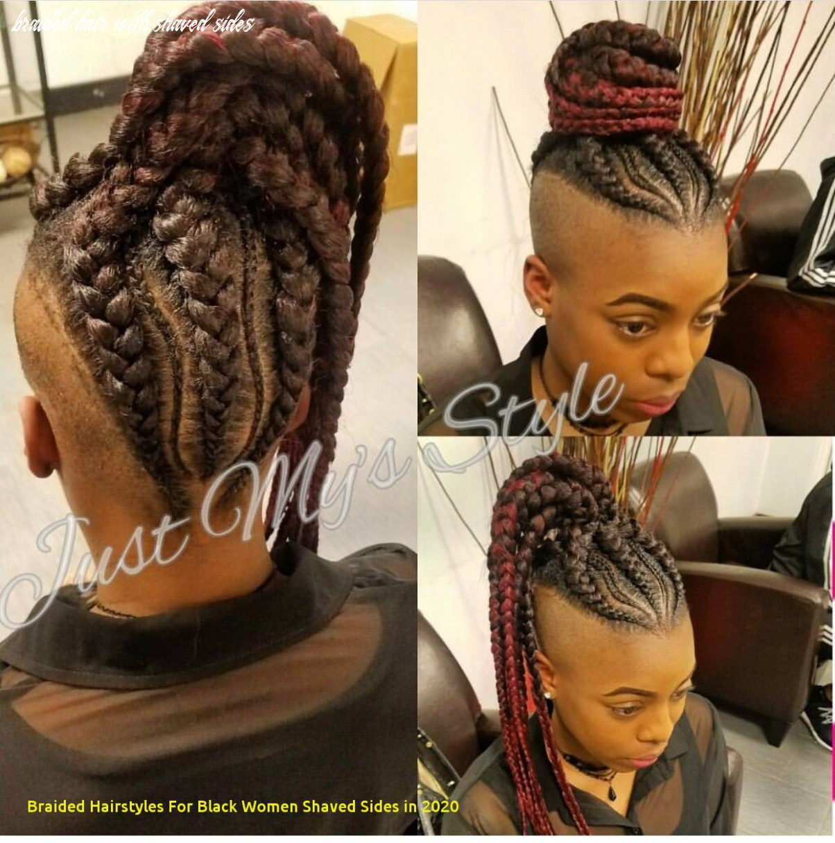 9 Awesome Braided Hairstyles for Black Women Shaved Sides In 9 ...
