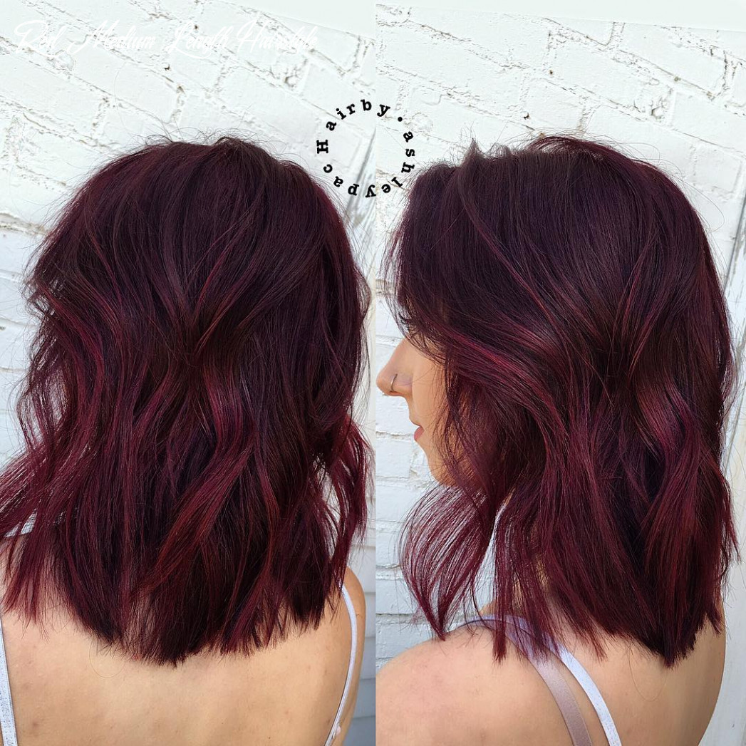 9 beautiful burgundy hairstyles hair adviser red medium length hairstyle