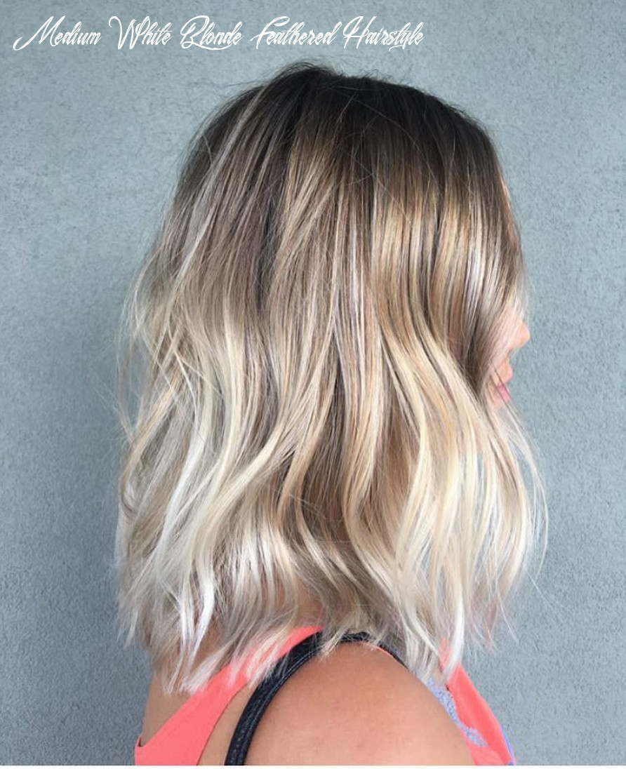 9 best medium hairstyles for women shoulder length hair cuts 9 medium white blonde feathered hairstyle