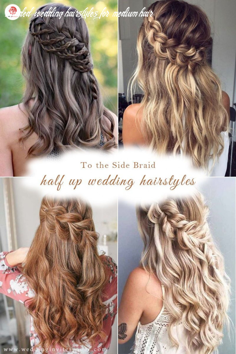 9 captivating half up half down wedding hairstyles to the side
