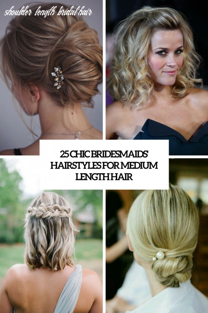 9 Chic Bridesmaids' Hairstyles For Medium Length Hair - Weddingomania