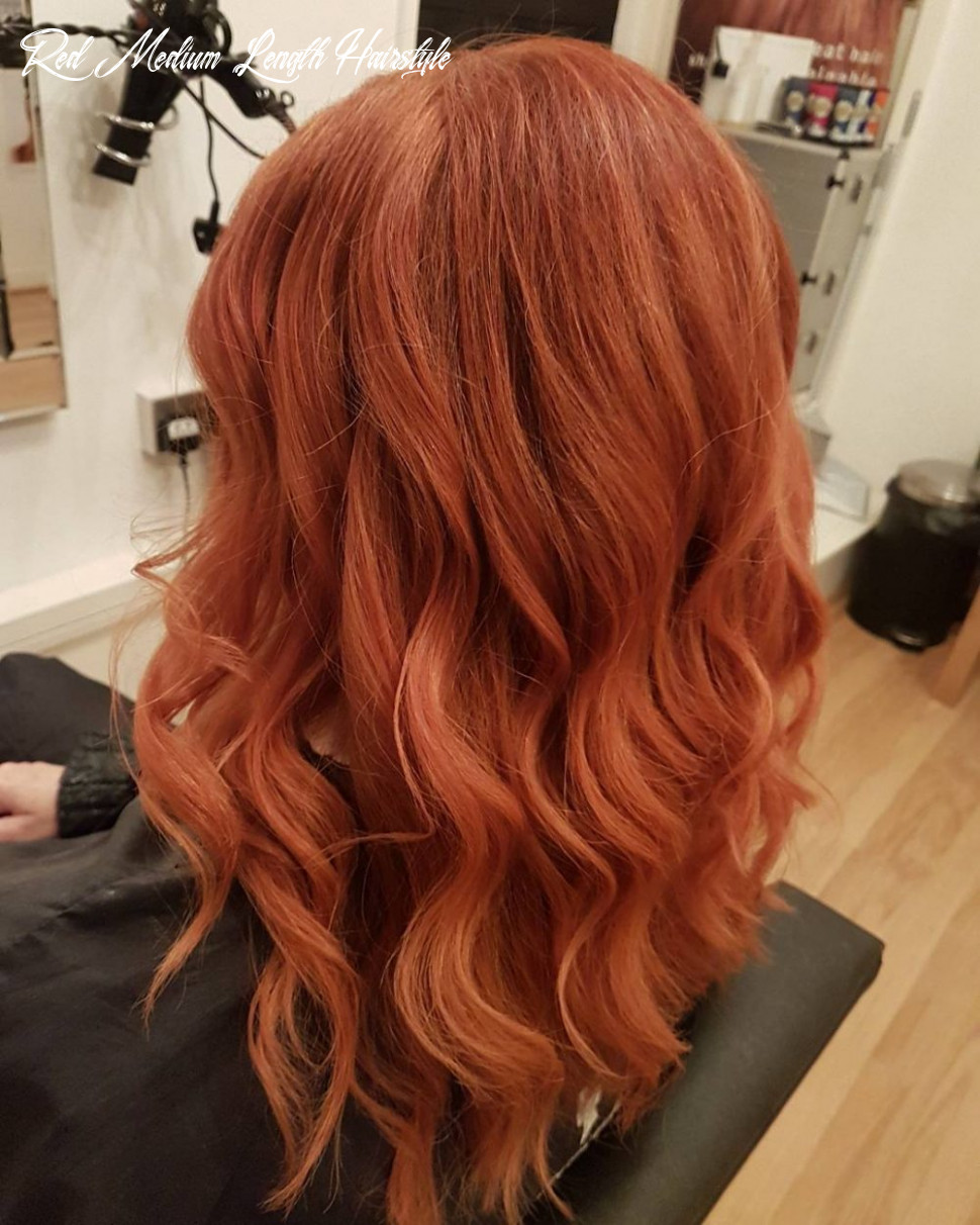 9 chic medium length wavy hairstyles in 9 red medium length hairstyle
