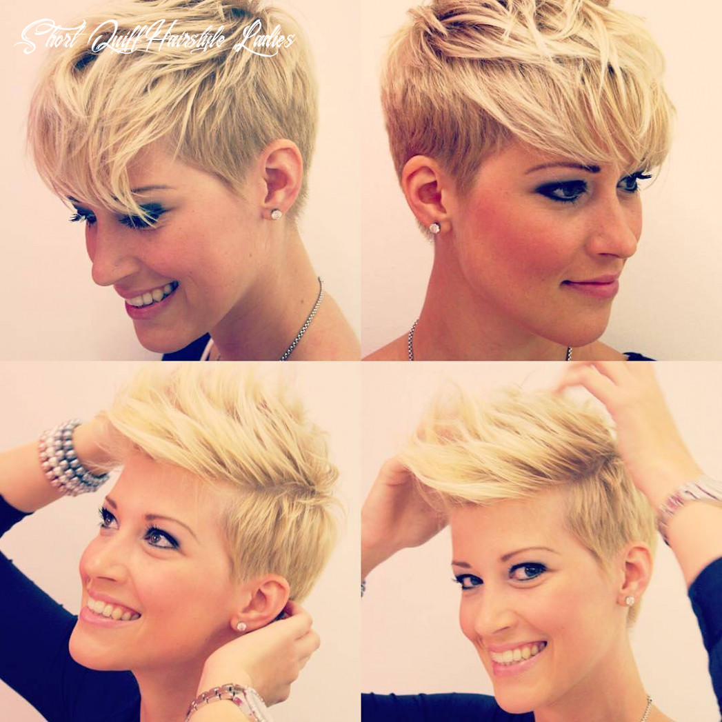 9 choppy haircuts for short hair in crazy colors 9 short quiff hairstyle ladies