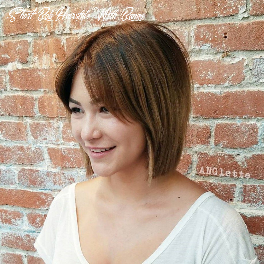 9 classy short bob haircuts and hairstyles with bangs | straight
