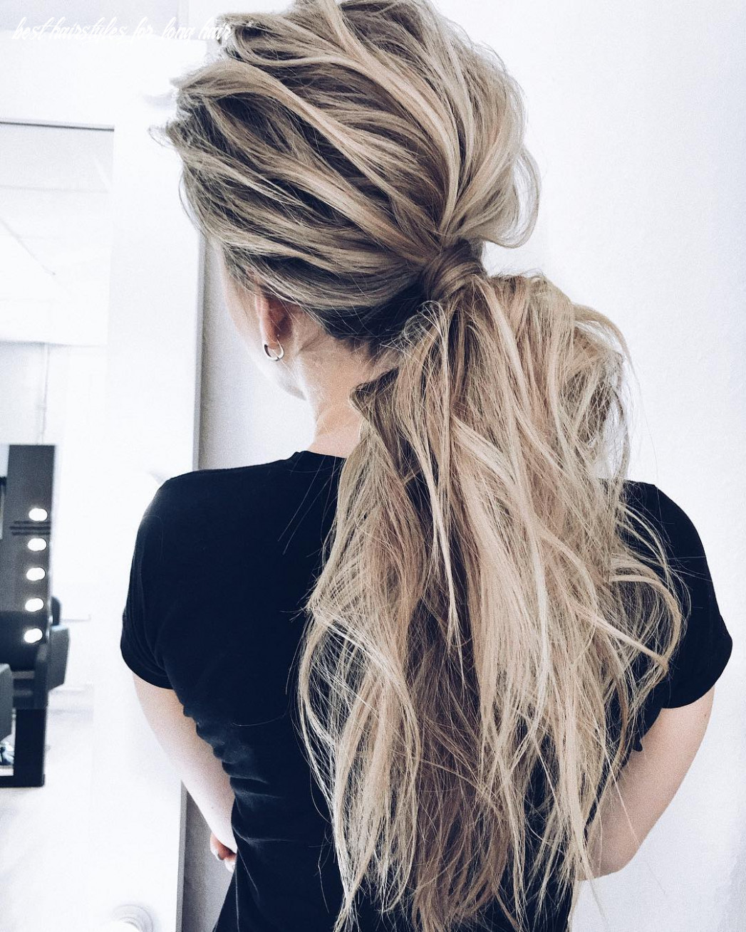 9 creative ponytail hairstyles for long hair, summer hairstyle