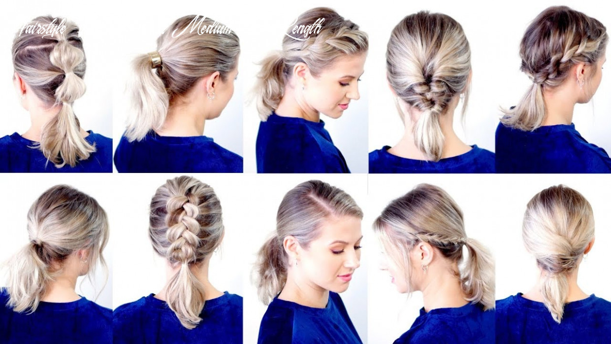 9 cute & easy low ponytail hairstyles   milabu hairstyle with ponytail medium hair length