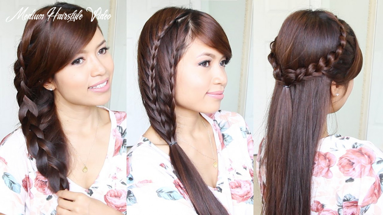 9 cute & easy summer hairstyles for medium to long hair medium hairstyle video