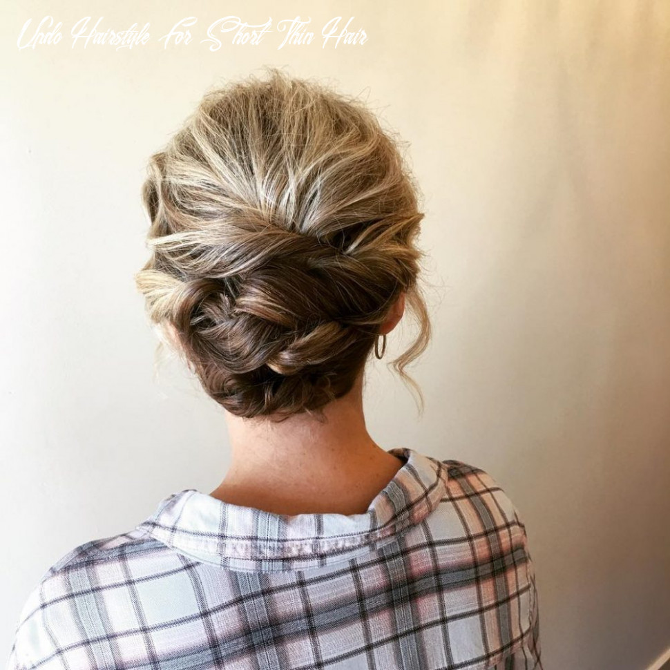 9 cute & easy updos for short hair updo hairstyle for short thin hair