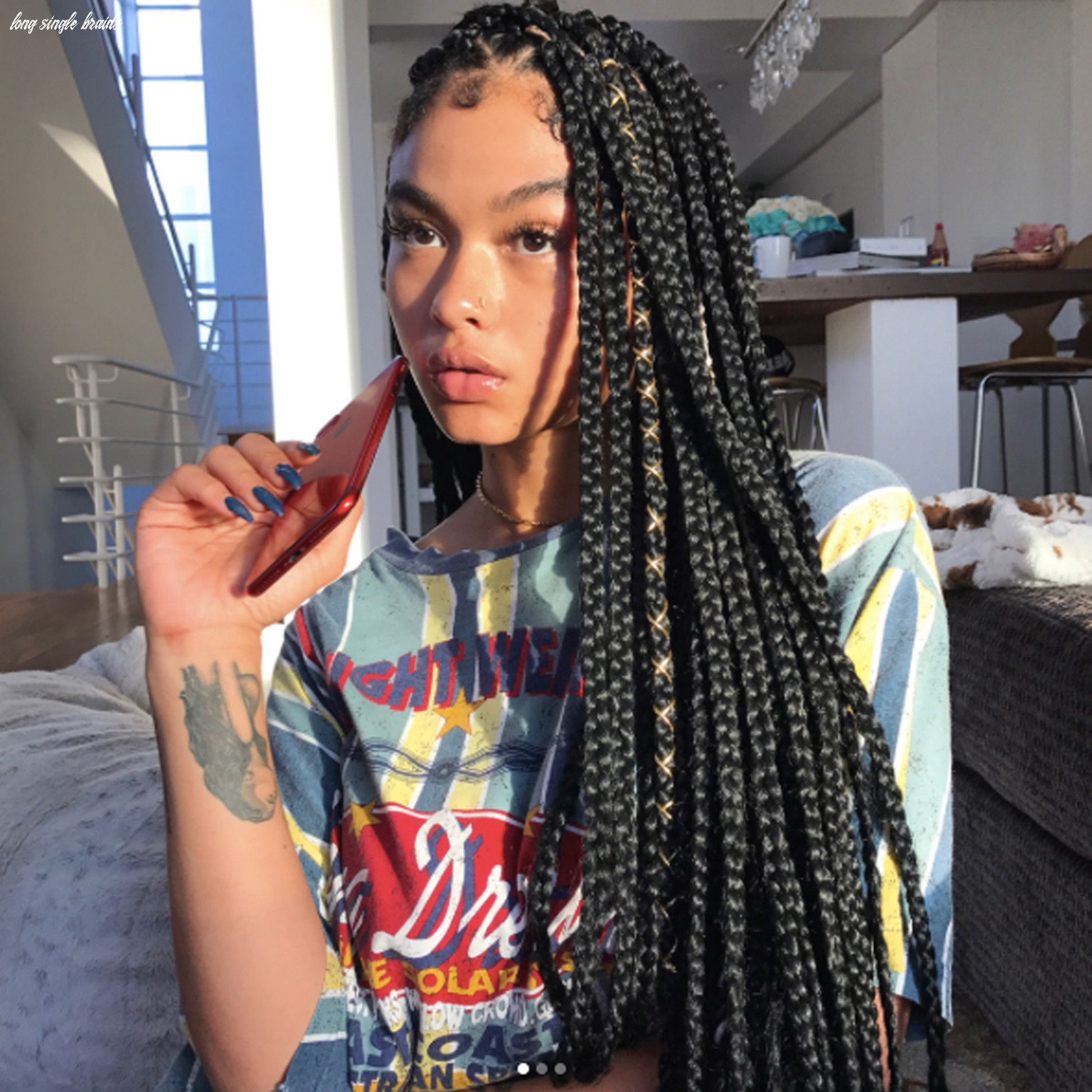 9 dope box braids hairstyles to try | allure long single braids