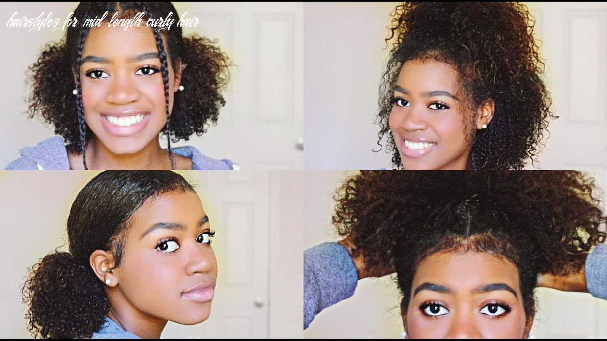9 easy and cute hairstyles for medium length curly hair! hairstyles for mid length curly hair