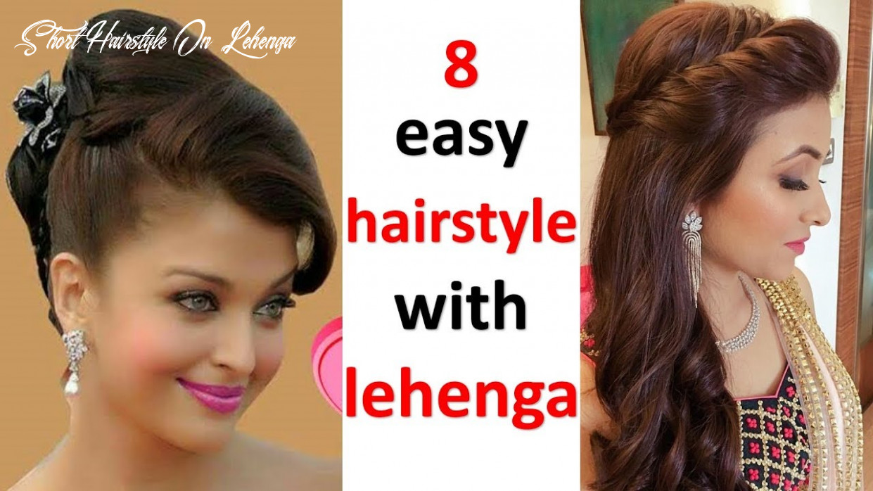 9 easy and simple hairstyles with lehenga | hairstyle for wedding | open hairstyle | quick hairstyle short hairstyle on lehenga