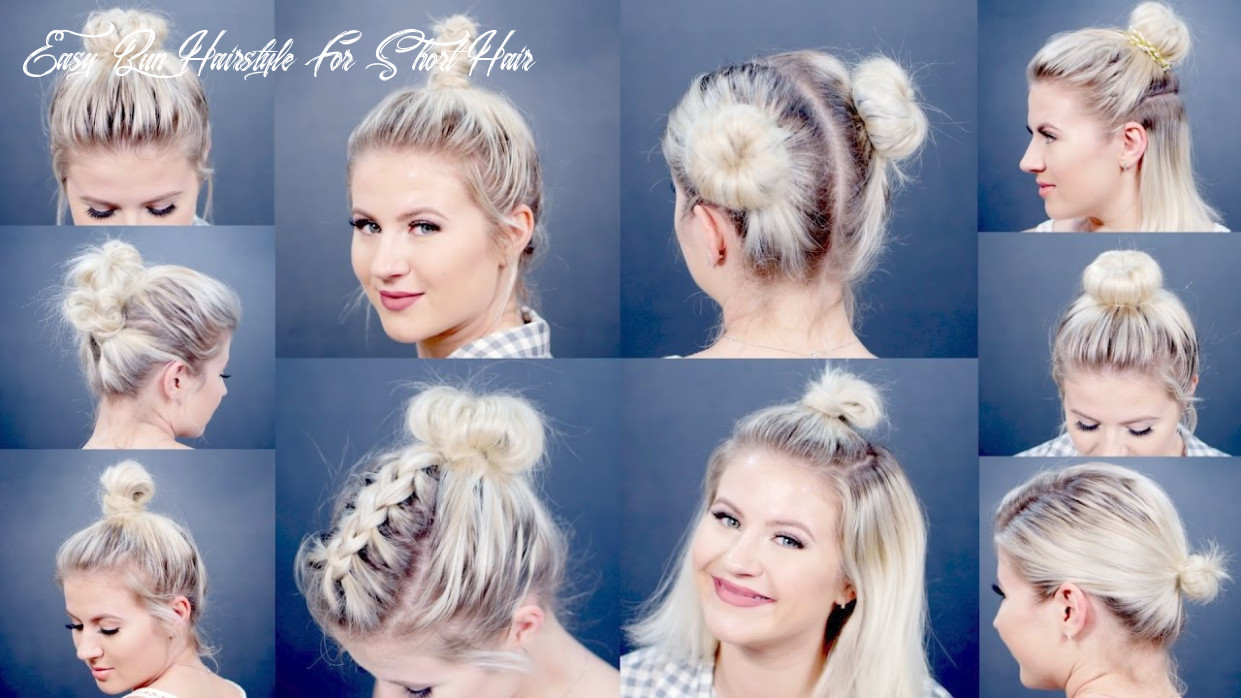 9 easy different bun hairstyles for short hair | milabu easy bun hairstyle for short hair