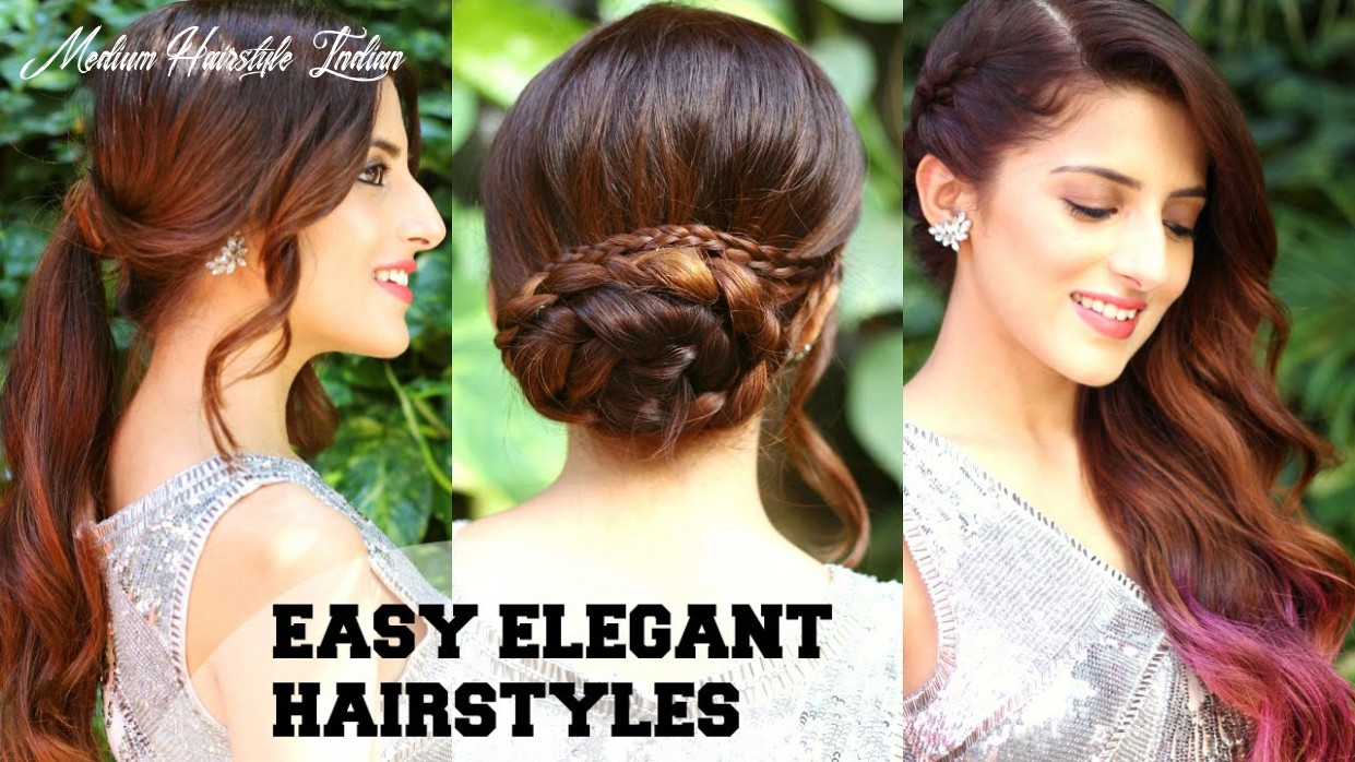 9 easy elegant romantic hairstyles / indian party hairstyles for medium to long hair/ bblunt medium hairstyle indian