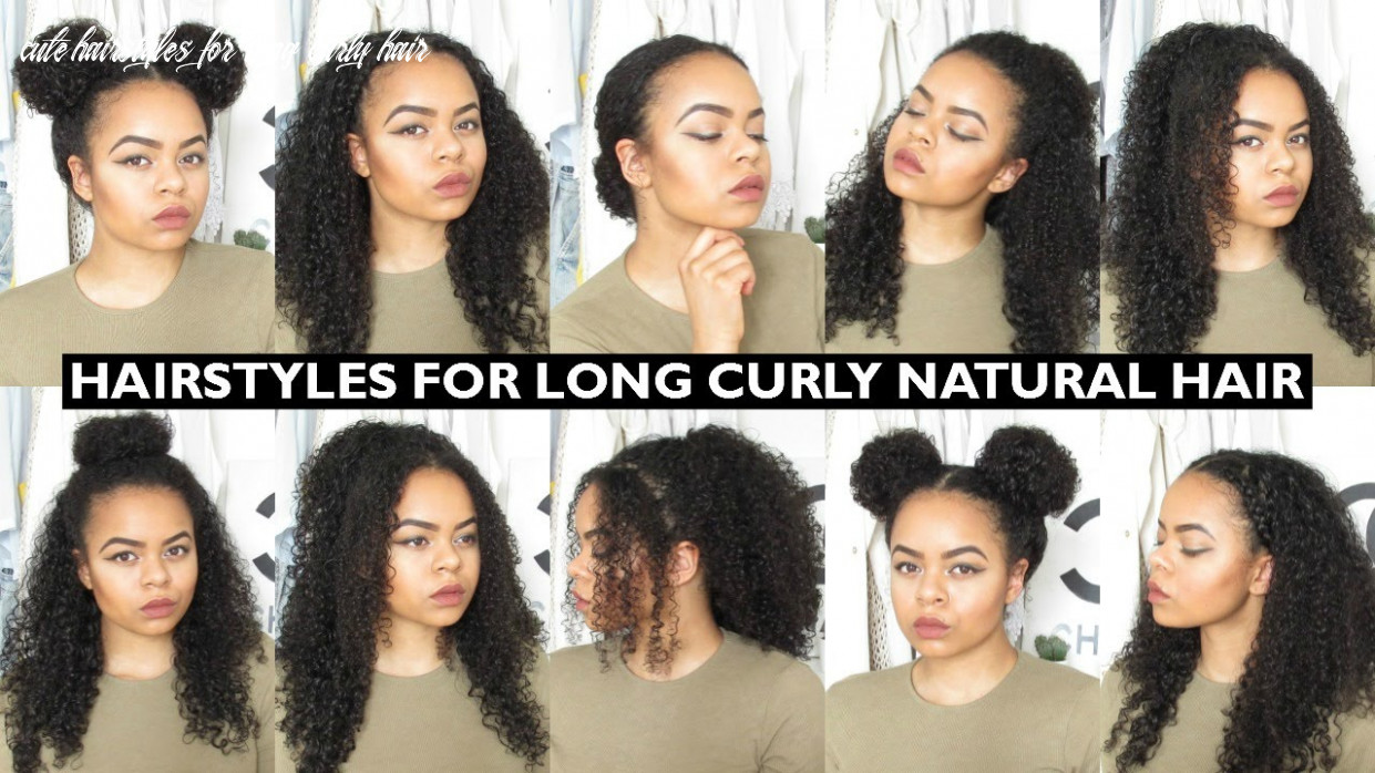 9 easy everyday hairstyles for natural curly hair cute hairstyles for long curly hair