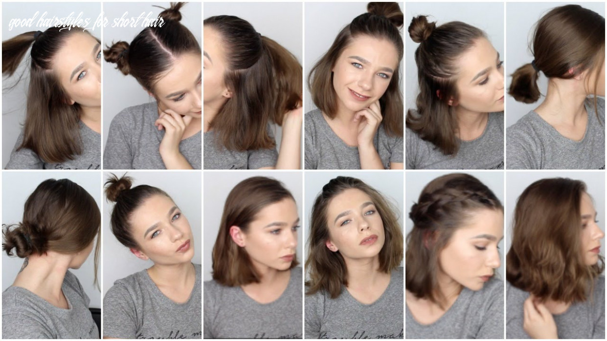 9 easy hairstyles for short hair ♡ good hairstyles for short hair
