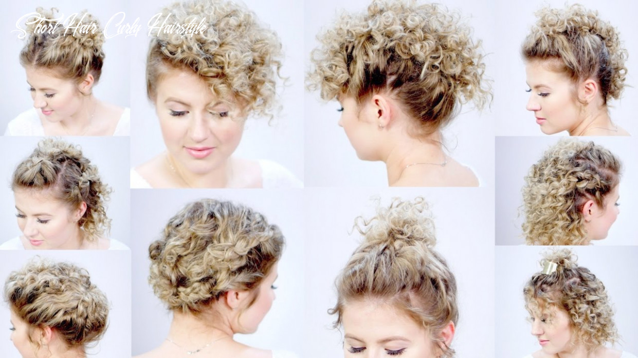 9 easy hairstyles for short hair with curling iron | milabu short hair curly hairstyle