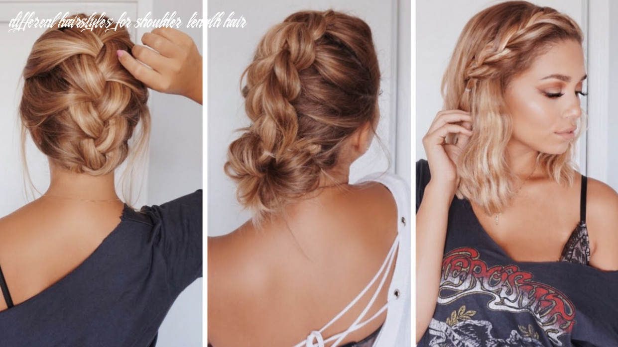 9 easy hairstyles for short/medium length hair | ashley bloomfield different hairstyles for shoulder length hair
