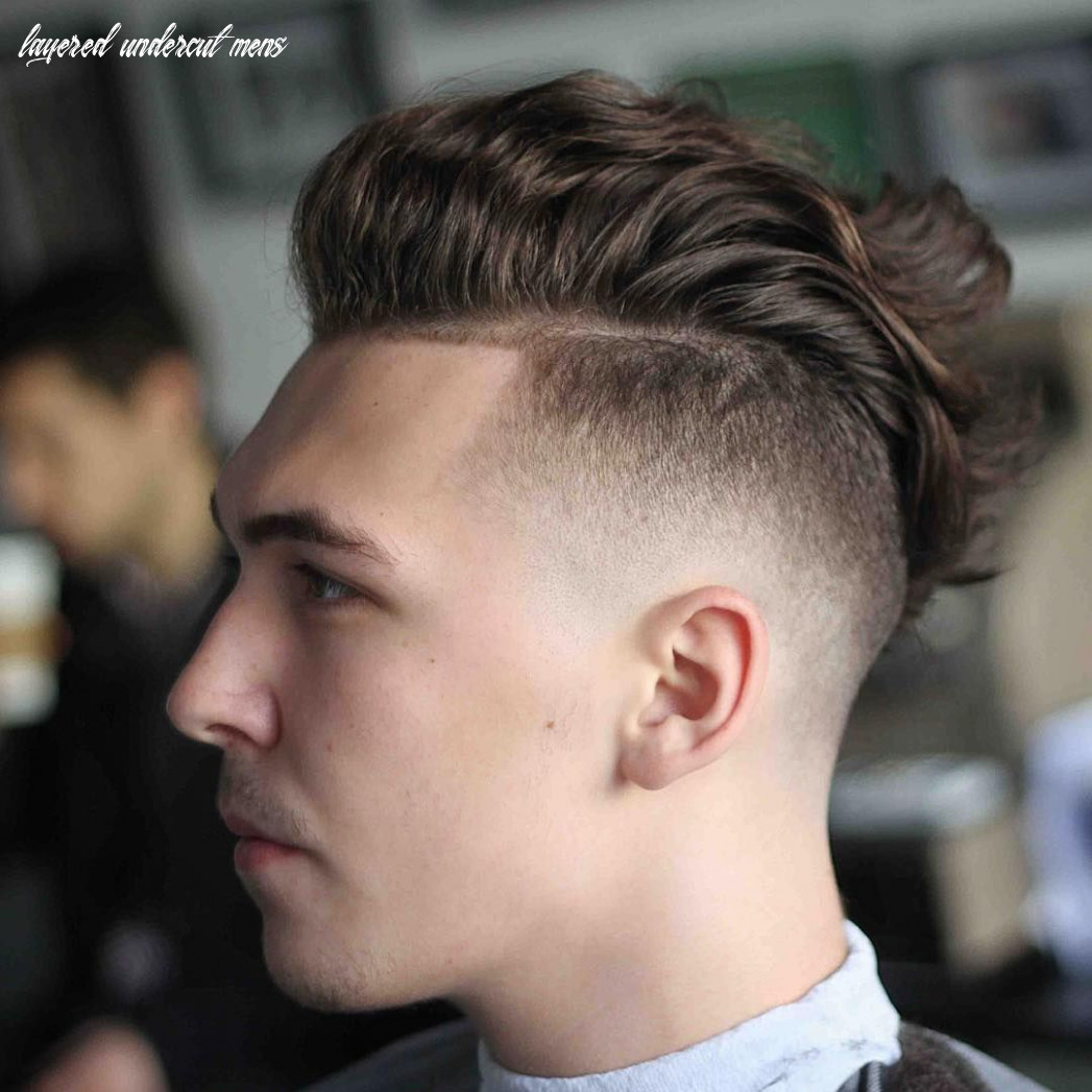 9 easy layered undercut hairstyle styling | mens undercut fashion