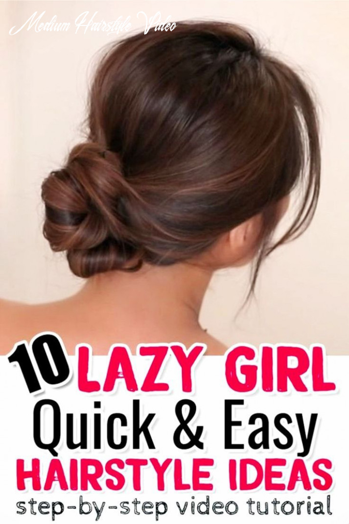 9 easy lazy girl hairstyle ideas {step by step video tutorials