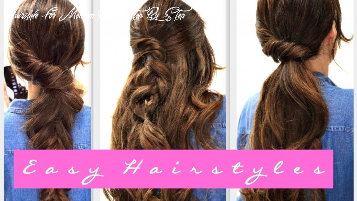 9 easy lazy hairstyles | fall hairstyle for medium long hair hairstyle for medium hair step by step