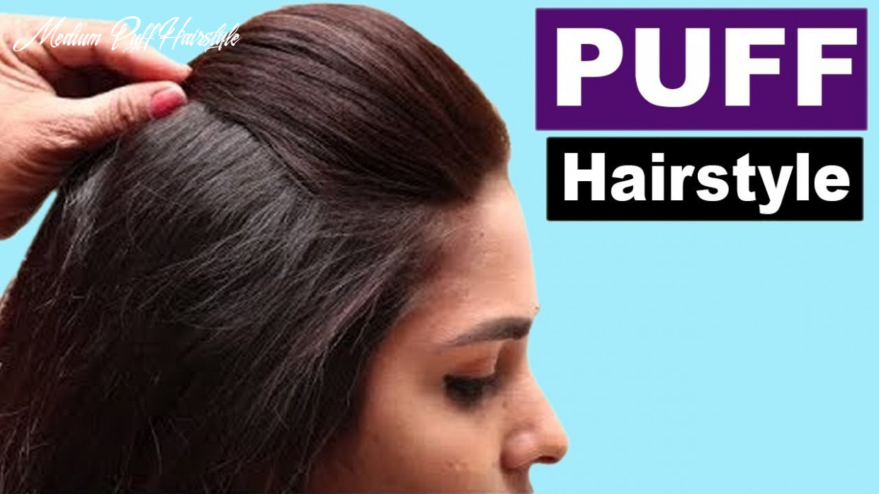 9 easy puff hairstyles   everyday hairstyles tutorials   quick hairstyles for medium thin hair medium puff hairstyle