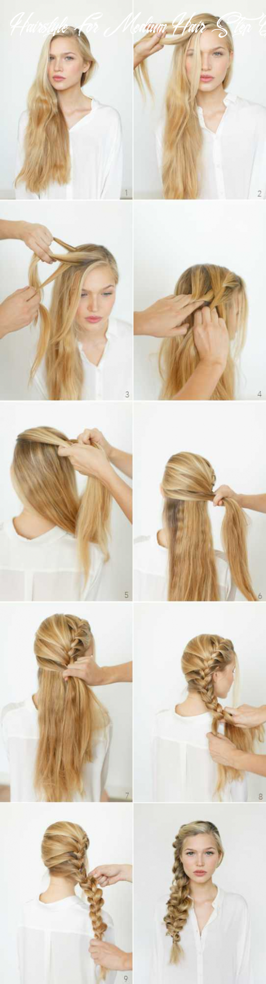 9 easy step by step tutorials for perfect hairstyles hairstyle for medium hair step by step