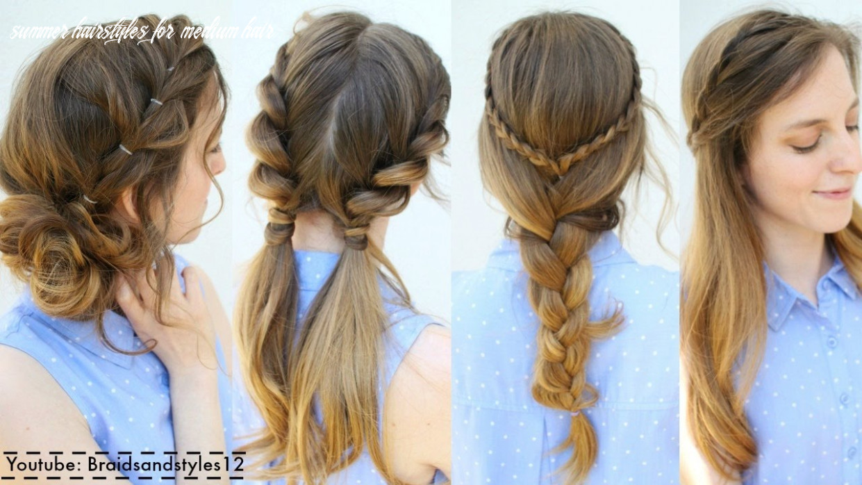 9 easy summer hairstyle ideas | summer hairstyles | braidsandstyles9 summer hairstyles for medium hair