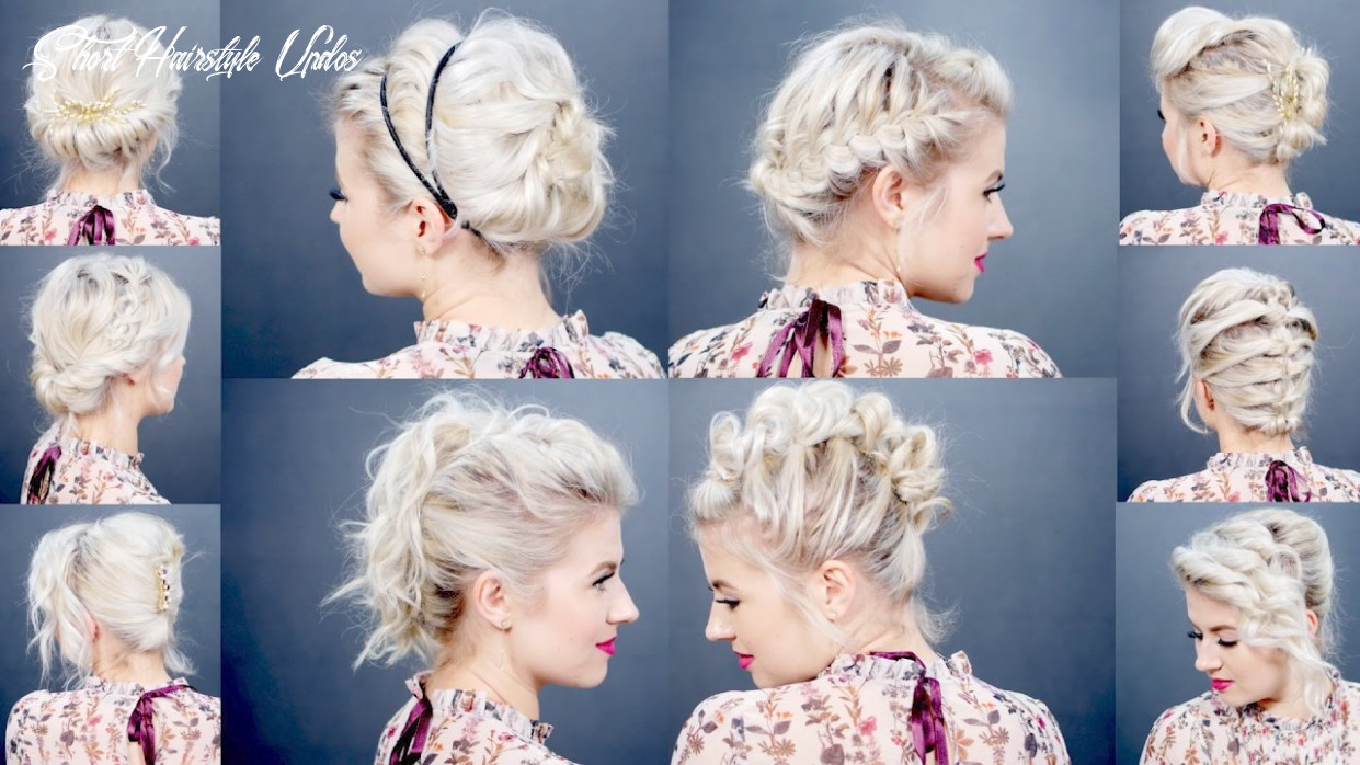 9 easy updo tutorials for short hair | milabu short hairstyle updos