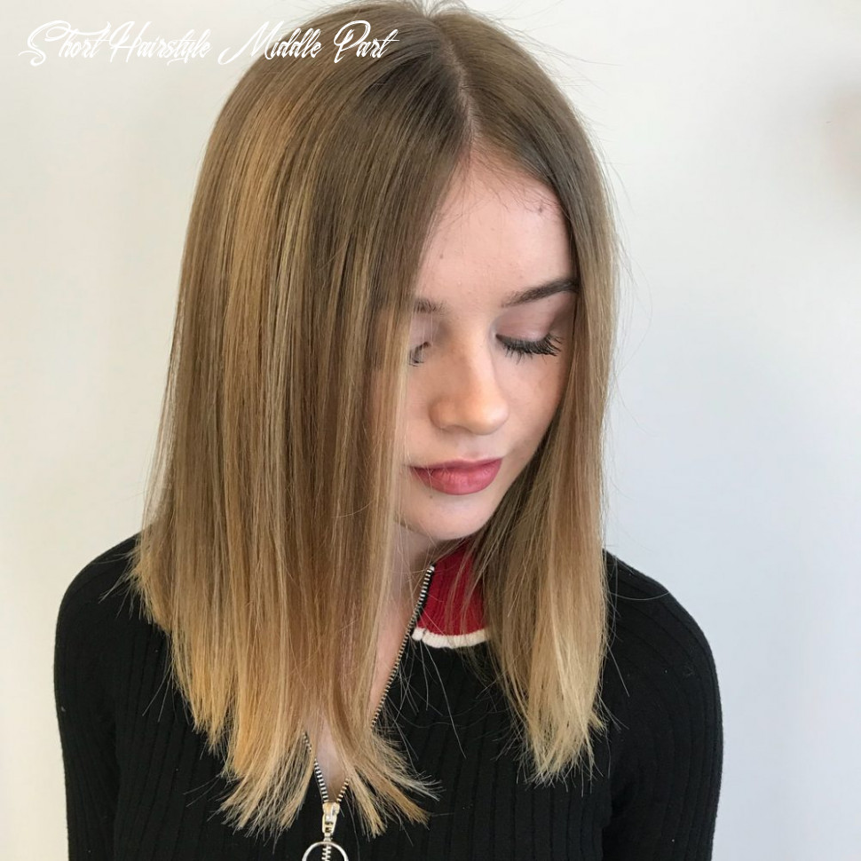 9 flattering middle part hairstyles in 9 short hairstyle middle part