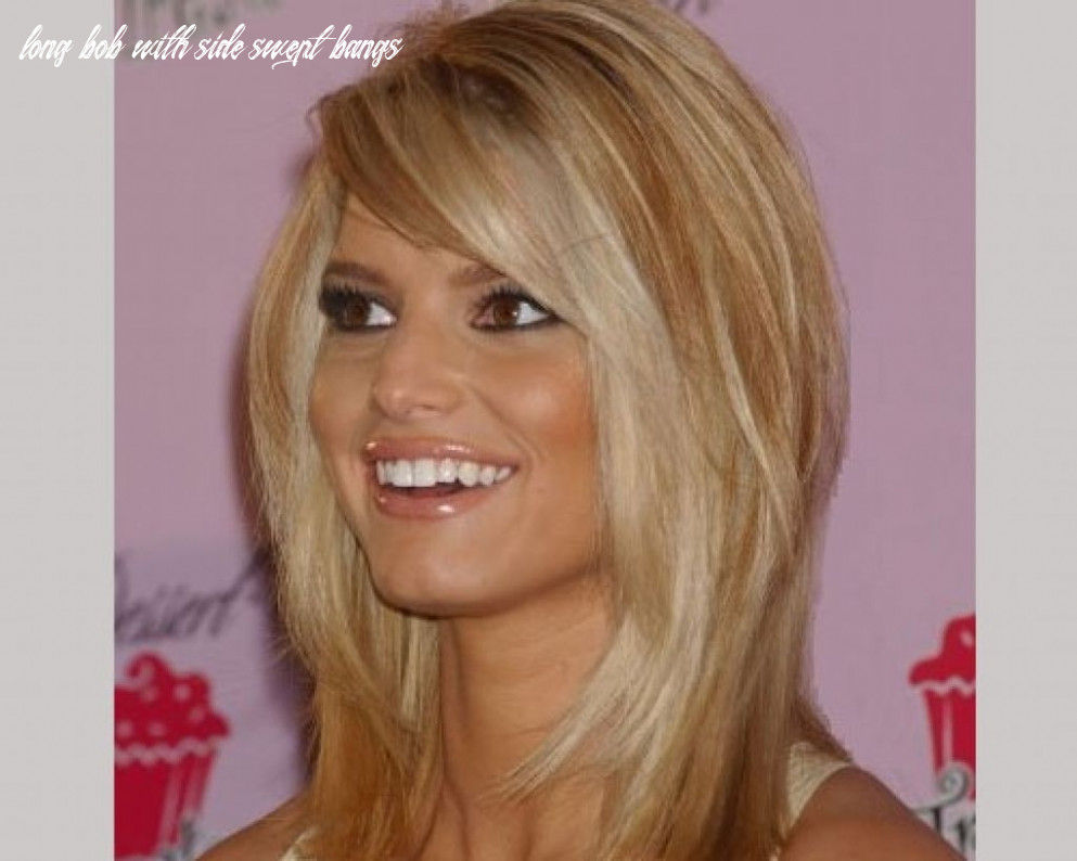 9 gorgeous long layered bobs with bangs haircuts haircut today long bob with side swept bangs