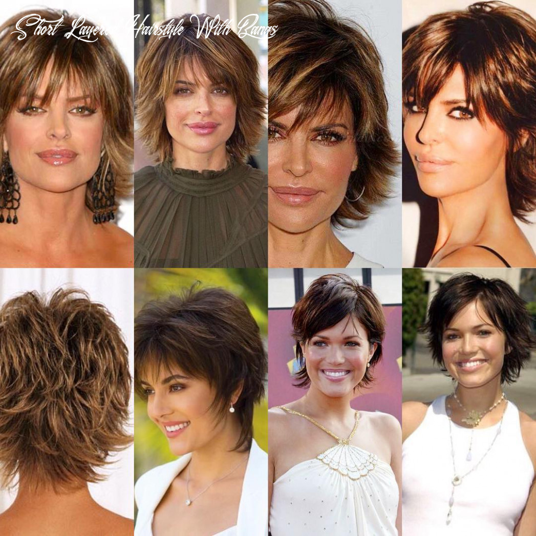 9 gorgeous short layered hairstyles for all hair types prochronism short layered hairstyle with bangs