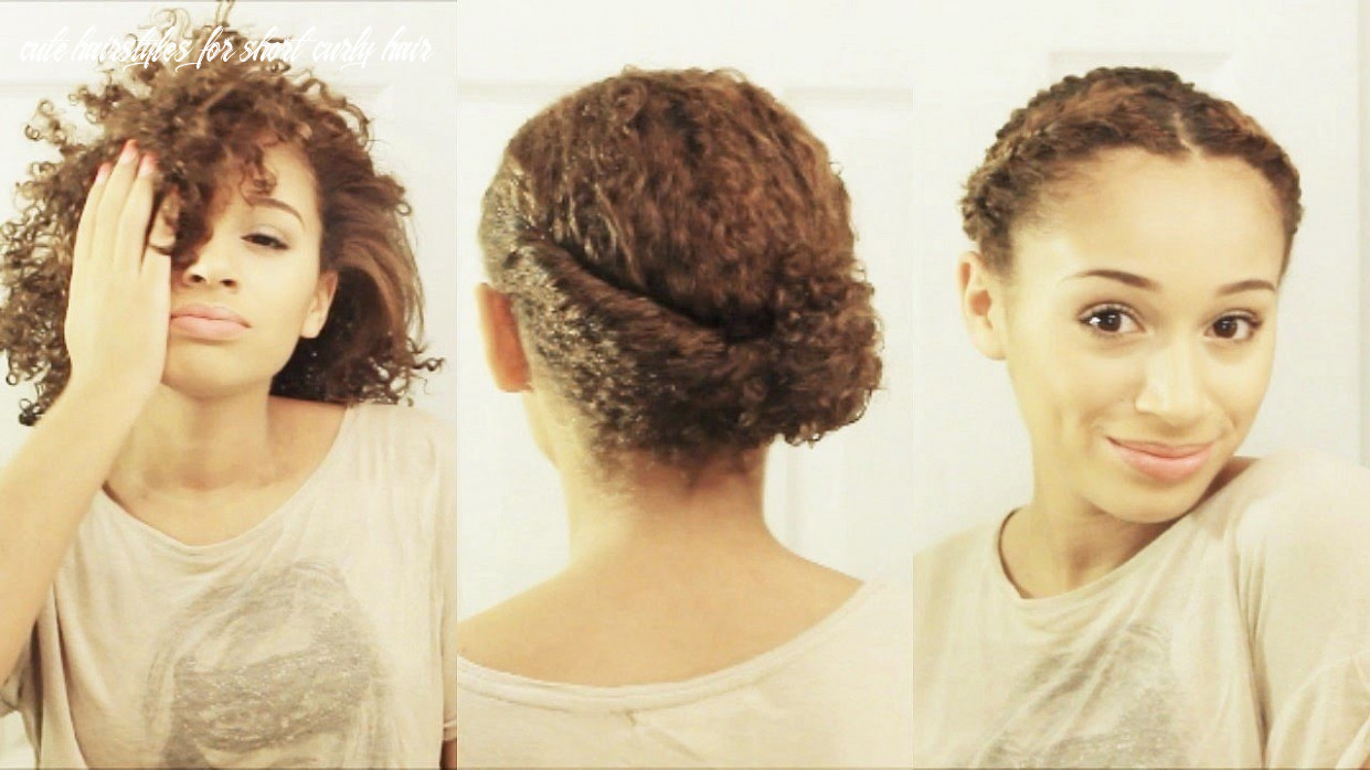 9 hairstyles for short curly hair cute hairstyles for short curly hair