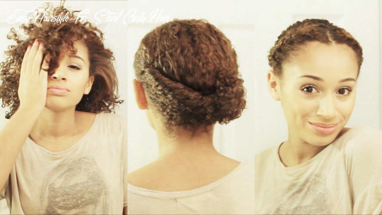 9 hairstyles for short curly hair easy hairstyle for short curly hair