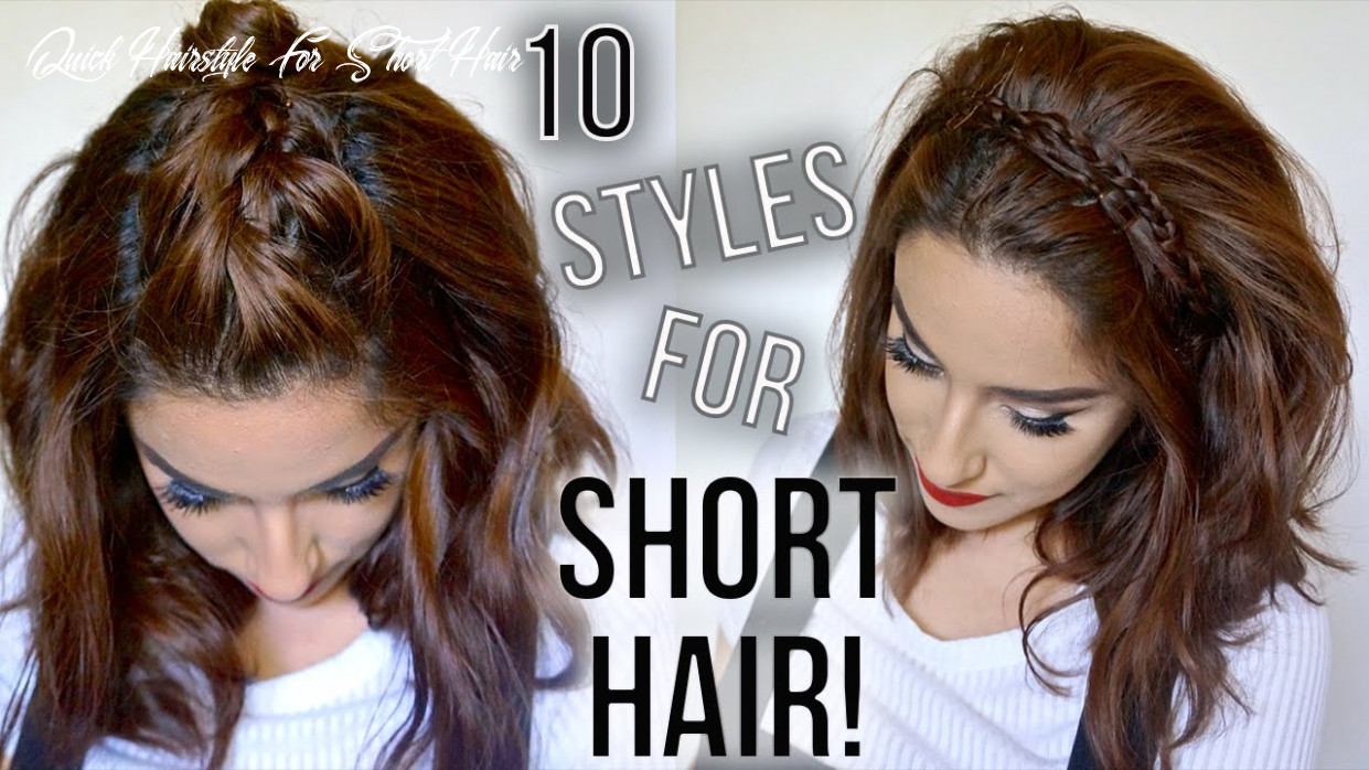 9 hairstyles for short hair // quick & easy // how i style my short hair || claribella quick hairstyle for short hair