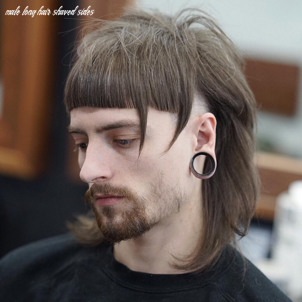 9 long hair hairstyles haircuts for men (9 styles) male long hair shaved sides